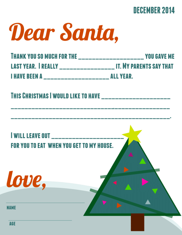 Free Printable Letter To Santa Spaceships And Laser Beams