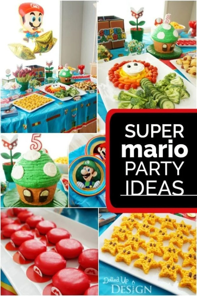 Super Mario-themed Birthday Party ideas from Spaceships and Laser Beams