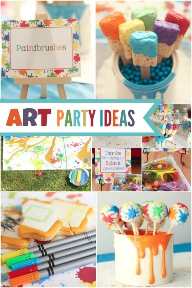 A Picasso Inspired Boys Art Themed Birthday Party
