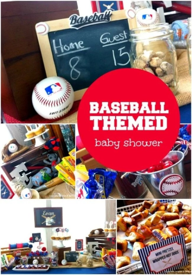 Baseball themed Baby shower