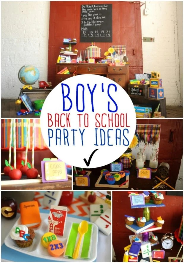 Boy's Back to School Party