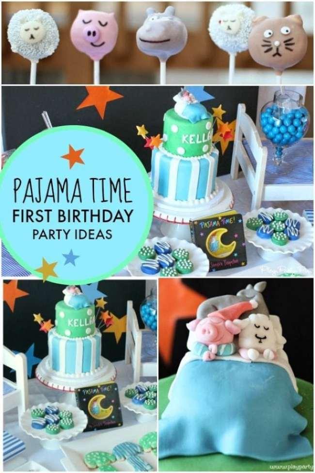 Boys Pajama Time First Birthday