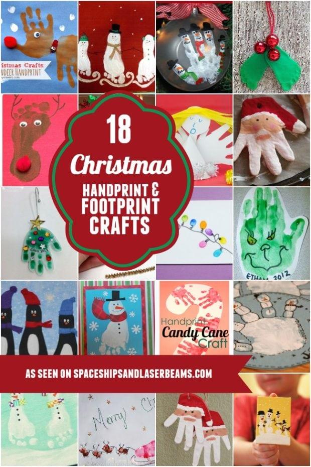 18 Christmas Handprint And Footprint Crafts Spaceships
