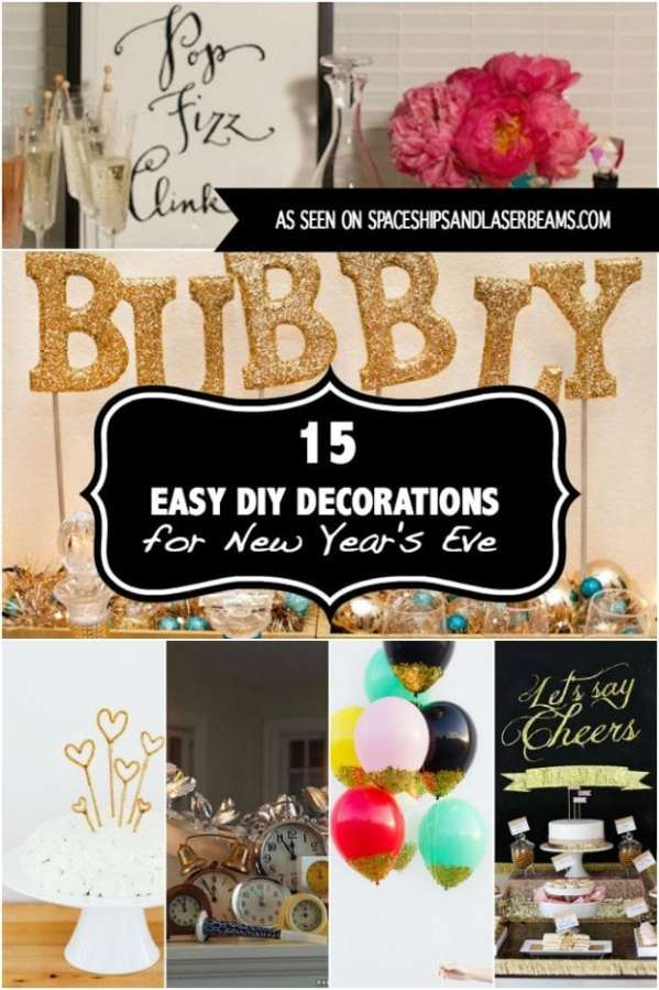 32 Free New Year's Eve Printables - Spaceships and Laser Beams