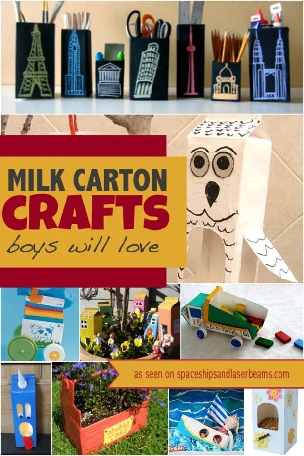 10 Milk Carton Crafts Boys Will Love Spaceships And