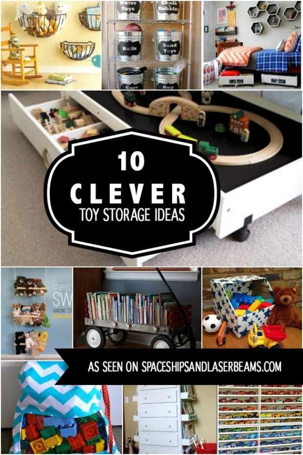 10 Clever Toy Storage Ideas Spaceships And Laser Beams