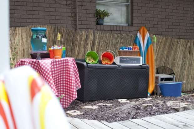 Beach Themed Drink Station