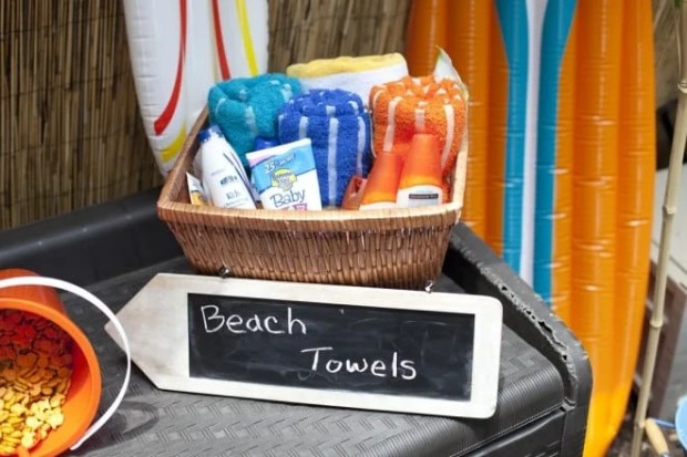 Beach Towels for a Beach Themed Birthday Party