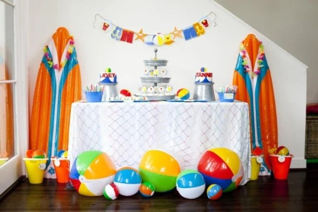 Boy's Beach Themed Birthday Party