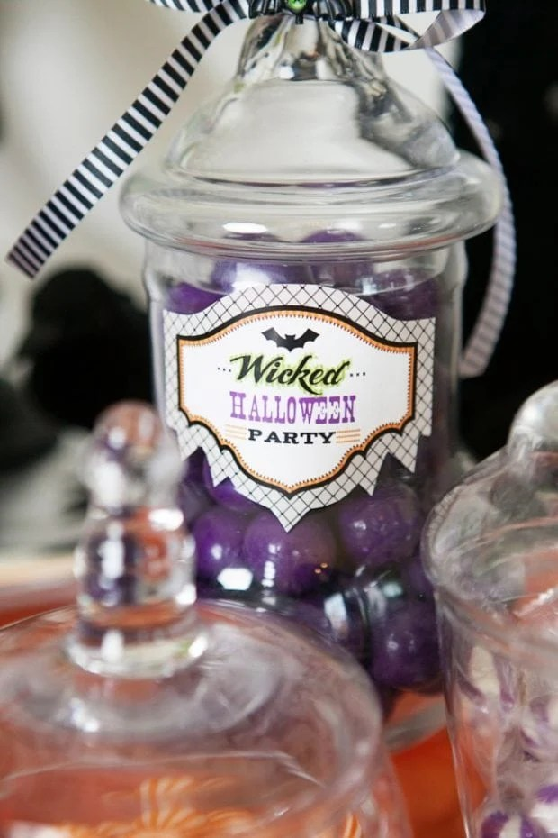 Witch Themed Halloween Party Sweet Treat Candy ideas