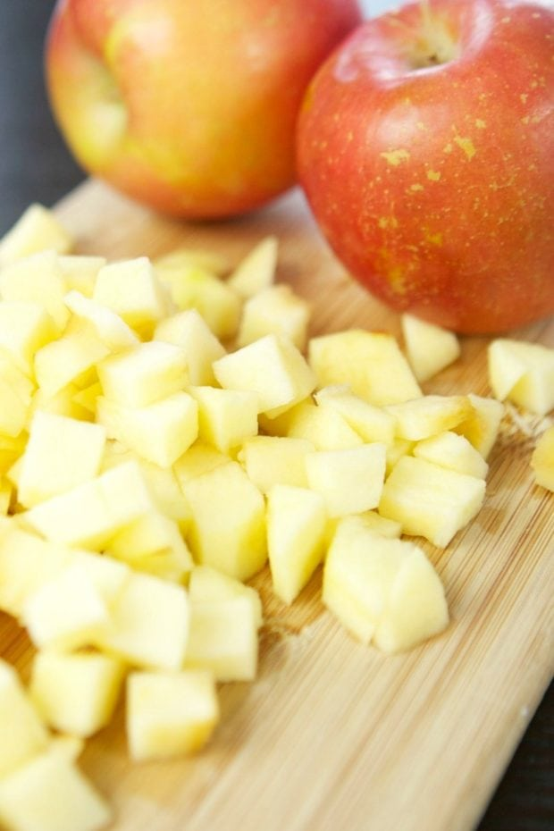 Chopped Apples for Party Food