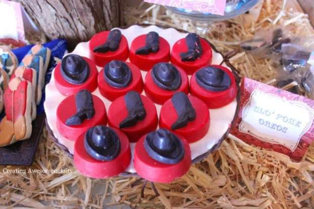 Western Themed Party Food Oreos