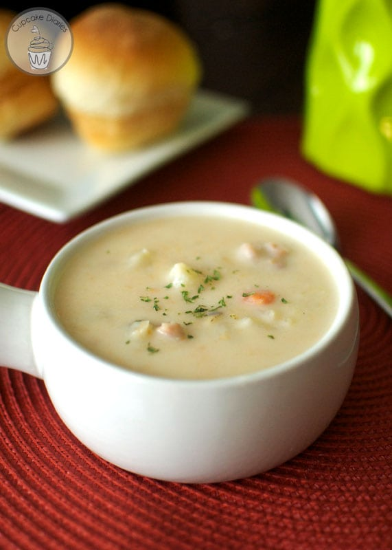 Slow Cooker Ham and Potato Soup