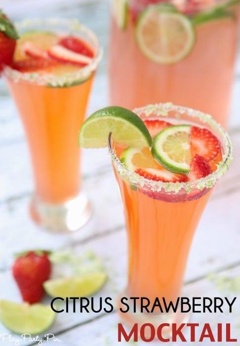 Citrus Strawberry Mocktail