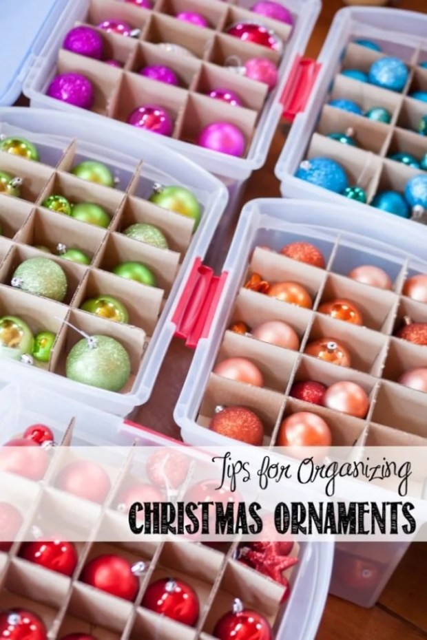Tips for Organizing Christmas Ornaments