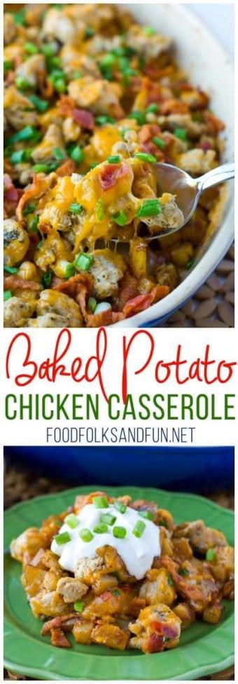 Loaded Baked Potato Chicken Casserole
