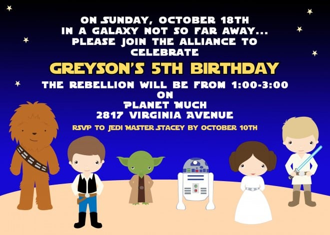 a boy s star wars birthday party