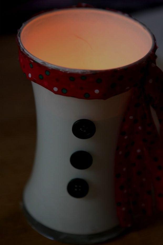 Fun Snowman Candle Holder