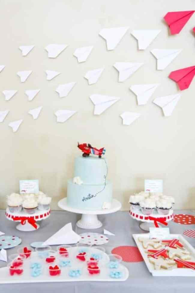 Airplane Themed Birthday Party Backdrop Party Idea