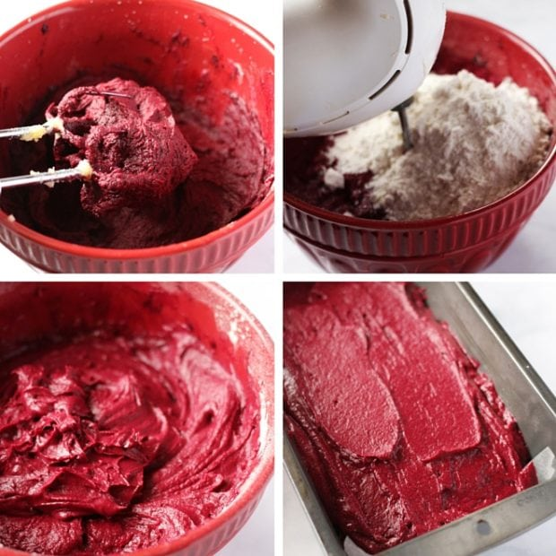 Rich red velvet to go with the cheesecake.
