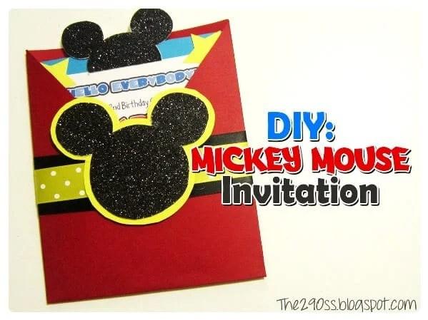 10 DIY Mickey Mouse Invitation