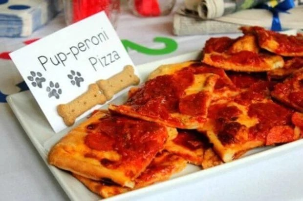 Pup-eroni Pizza is a perfect dog-themed party snack