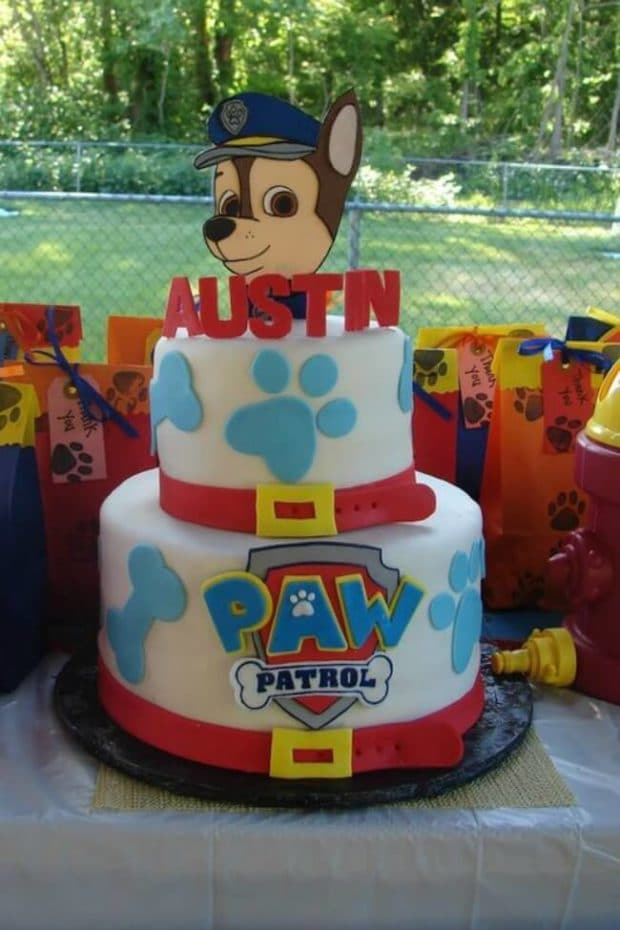 PAW Patrol Cake for a birthday party