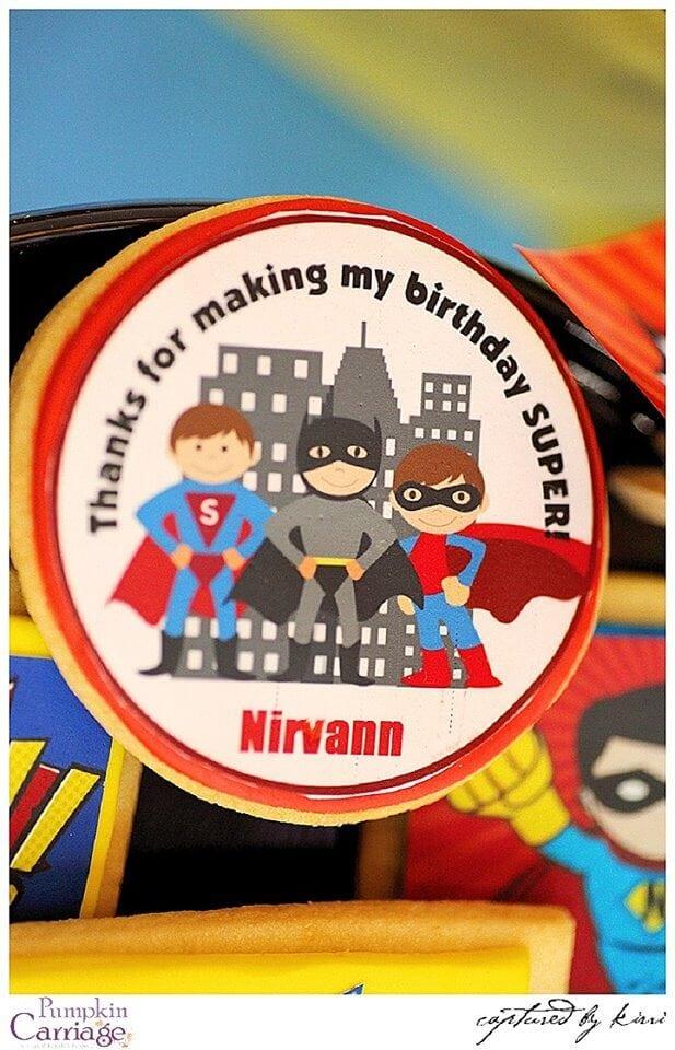 Boys Superhero birthday party favor idea