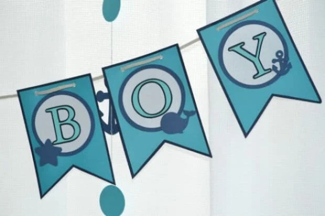Boys Whale Baby Shower Banner Ideas