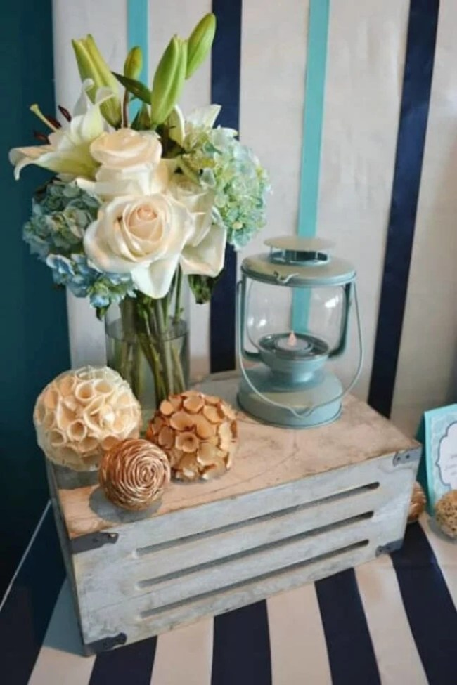 Boys Whale Themed Baby Shower Table Decoration Ideas