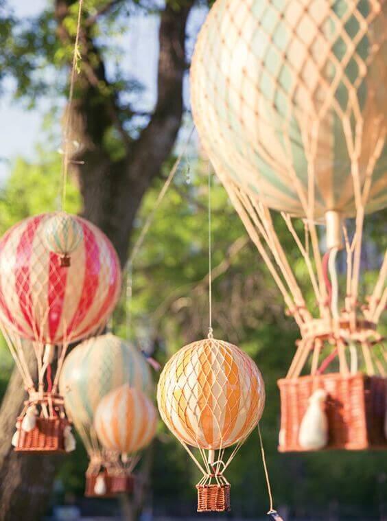 Hot Air Balloon Party Backdrop