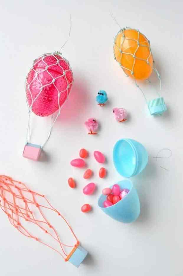 Treat Filled Hot Air Balloons