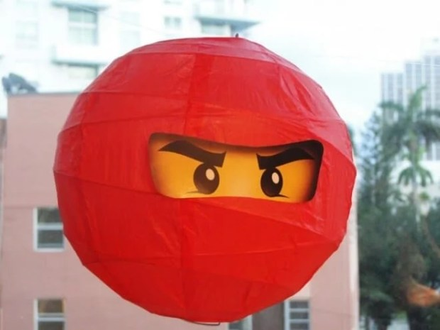 These easy decoration Ninjago Paper Lanterns are sure to make your party festive
