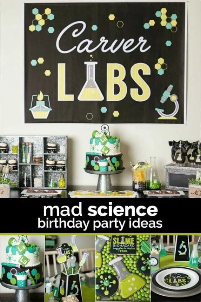 Boys Science Themed Birthday Party