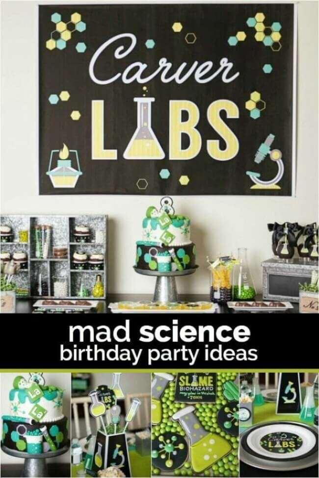 Boys Science Themed Birthday Party