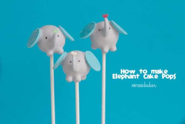 How to Make Elephant Cake Pops