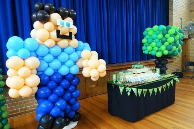 A Well Built Minecraft Boy S Birthday Party Spaceships