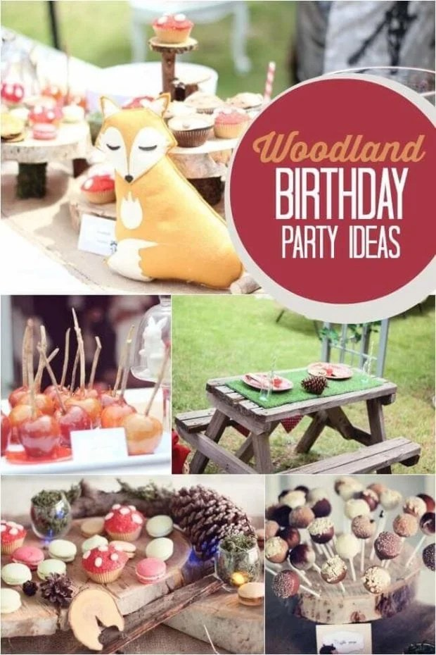 Woodland Themed Boy's First Birthday Party