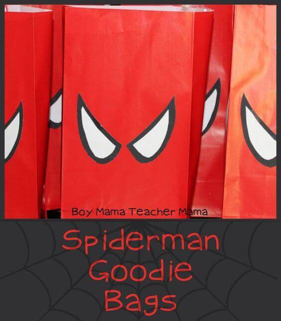 Spiderman Goodie Bags are a great way to send guests home with a party favor