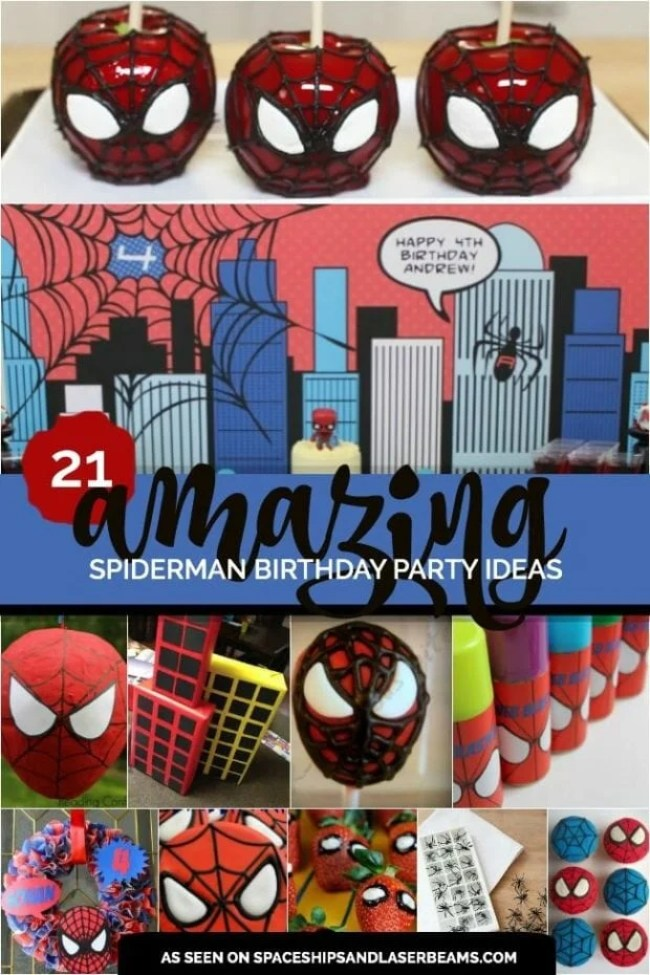 21 Amazing Spiderman Birthday Party Ideas from Spaceships and Laser Beams