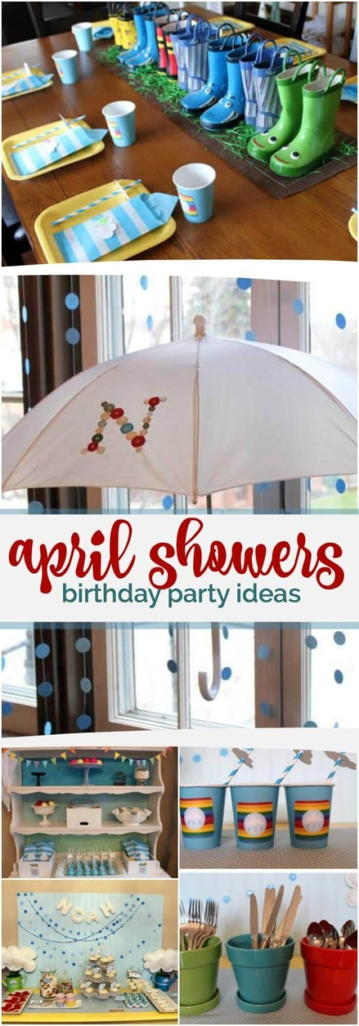 pinterest april showers birthday party
