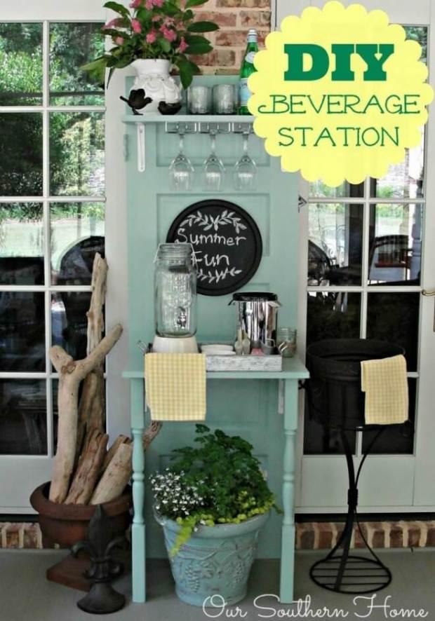 Upcycled DIY Beverage Station
