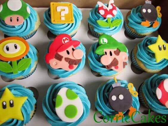 These Super Mario cupcake toppers are delightful and perfect for a Super Mario Brothers party.