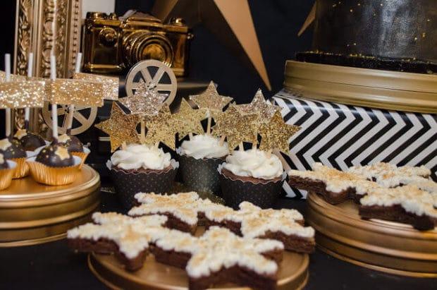 Boys Hollywood Birthday Themed Party Cupcake Ideas