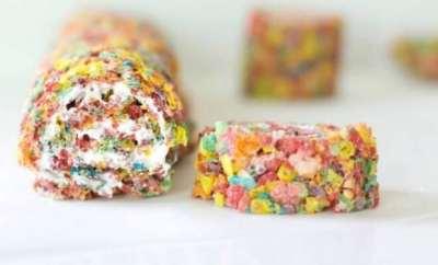 Fruity Pebbles Marshmallow Rolls