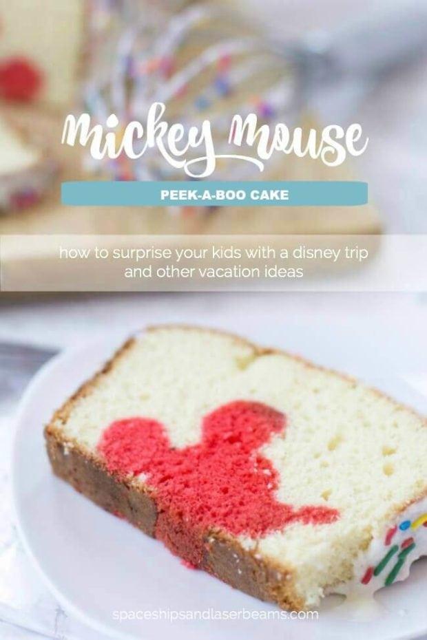 Mickey Mouse Peek-A-Boo Cake