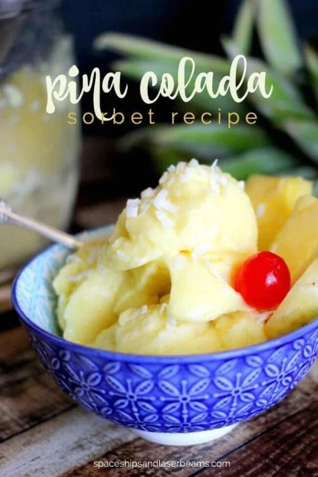 Pina Colada Sorbet Recipe