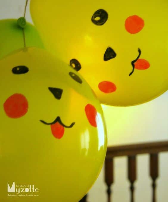 DIY Pikachu Balloons