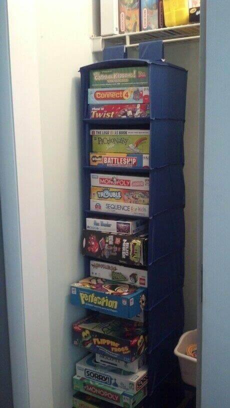 Sweater Bag Board Game Storage