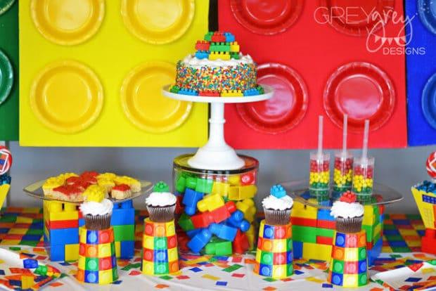 LEGO Themed Boy's Birthday Party